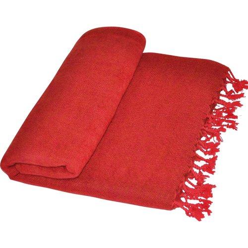 Couverture Nepal Rouge foncé   | Fabriqué à la main | belle couleur