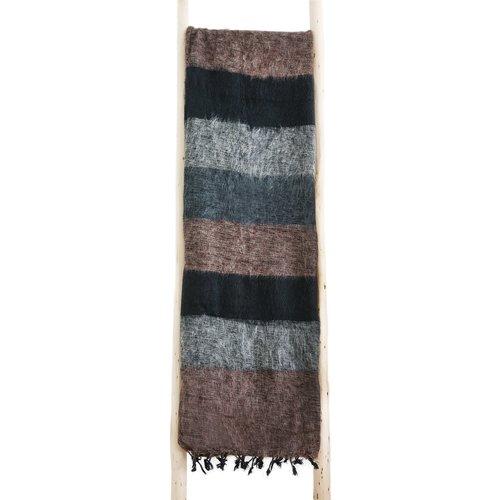Couverture Marron, gris, rayé noir   Belle combinaison de couleurs