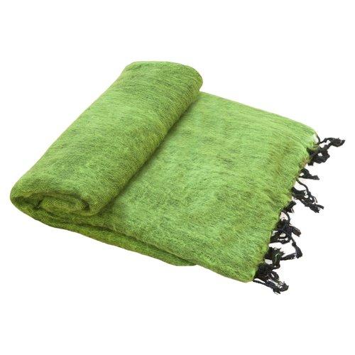 Couverture Vert herbe   Fabriqué à la main   belle couleur