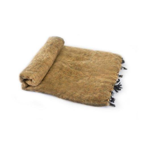 Nepal couverture brun doré #839