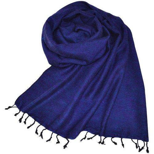 Népal Foulard Bleu royal | Fait main au Népal | Chaud et doux | Ne pique pas