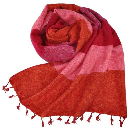 Népal Foulard Lilas | Belle combinaison de couleurs | Chaud et doux