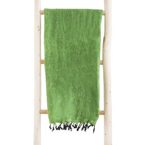 Népal Foulard Vert herbe   Grande couleur   Ne pique pas