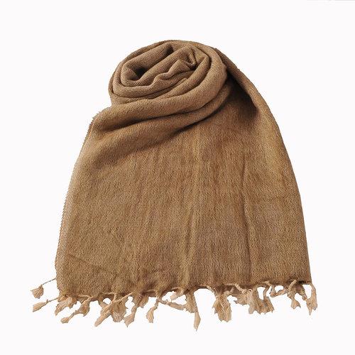 Népal Foulard Beige | Doux et laineux | Ne pique pas - Copy