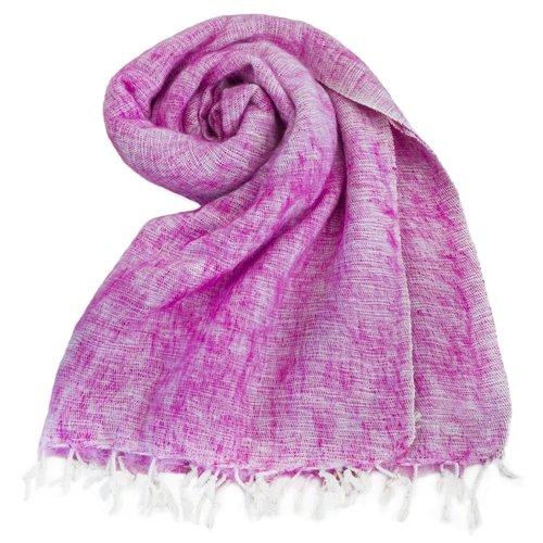 Népal Foulard Rose | couleur incroyable |  Doux et laineux