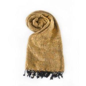 Népal Foulard brun doré #937