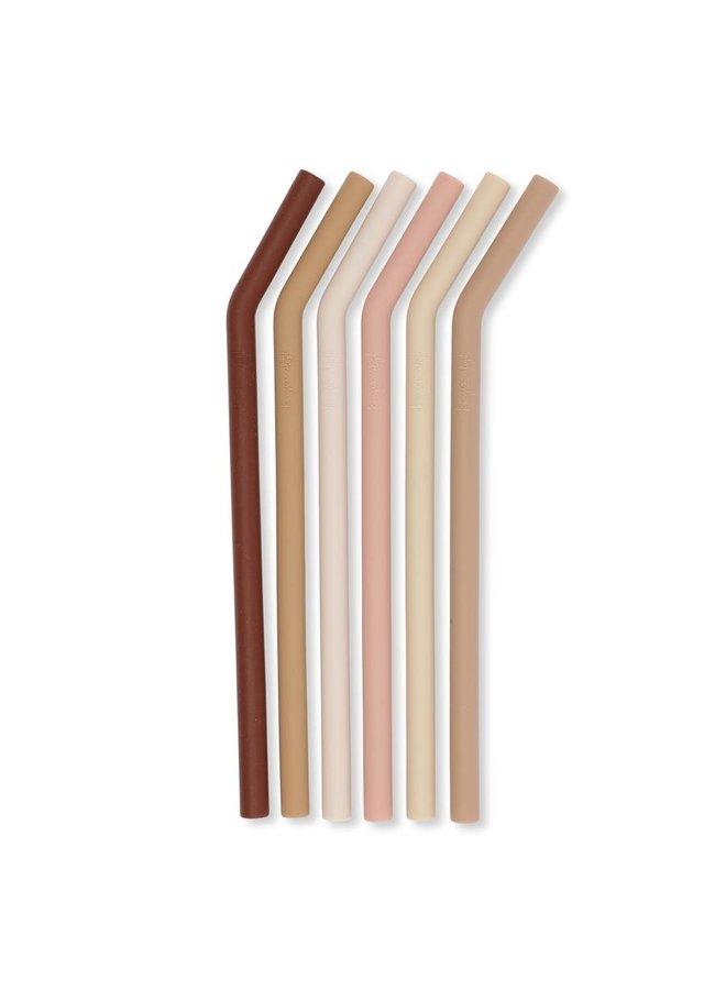 Herbruikbare rietjes silicone - Roze