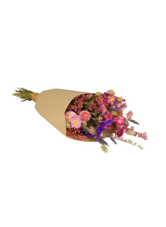 Droogbloemen medium roze
