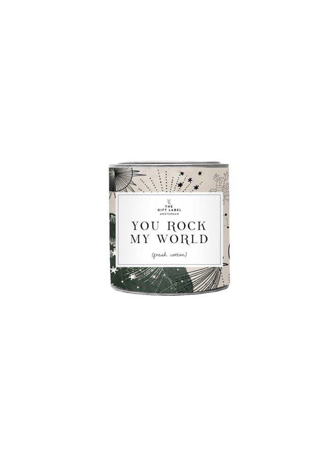 Kleine geurkaars - You rock my world
