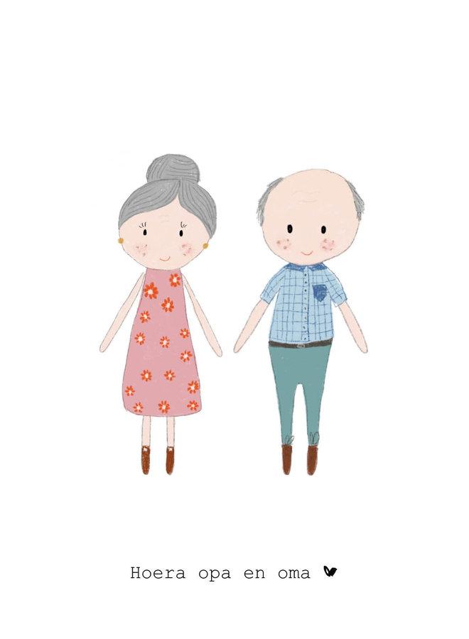 Hoera opa en oma