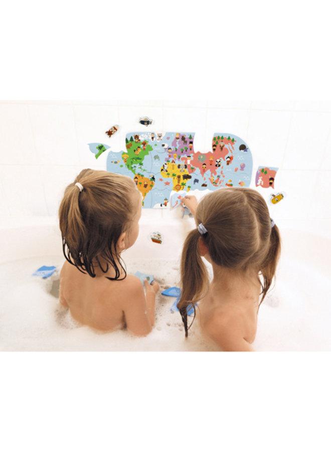 Badpuzzel - Wereldkaart