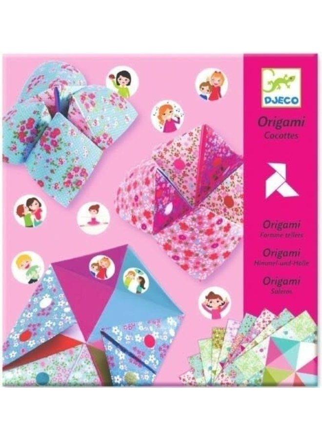 Origami zoutvaatjes met stickers