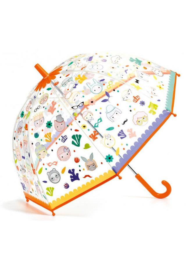 Kinderparaplu magische kleuren - Gezichten
