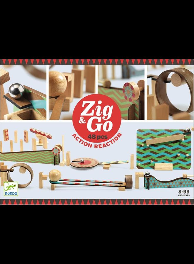Knikker parcours - Zig en go (48 pcs.)