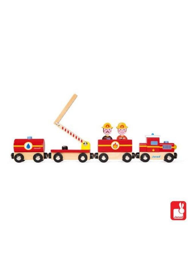 Houten brandweertrein