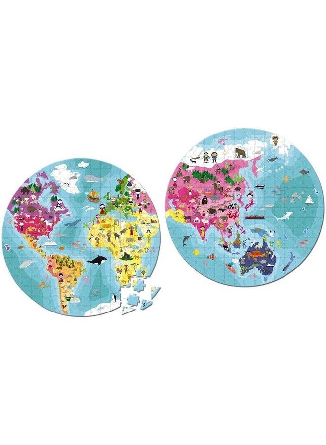 Puzzel - Wereld dubbelzijdig (208 st.)