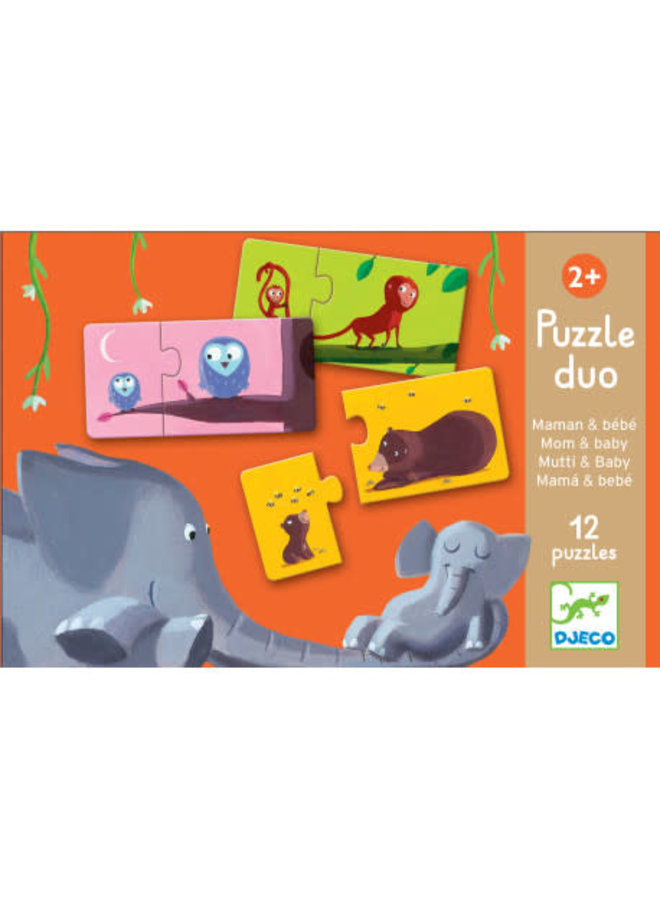 Puzzel duo - Mama & baby (12st.)
