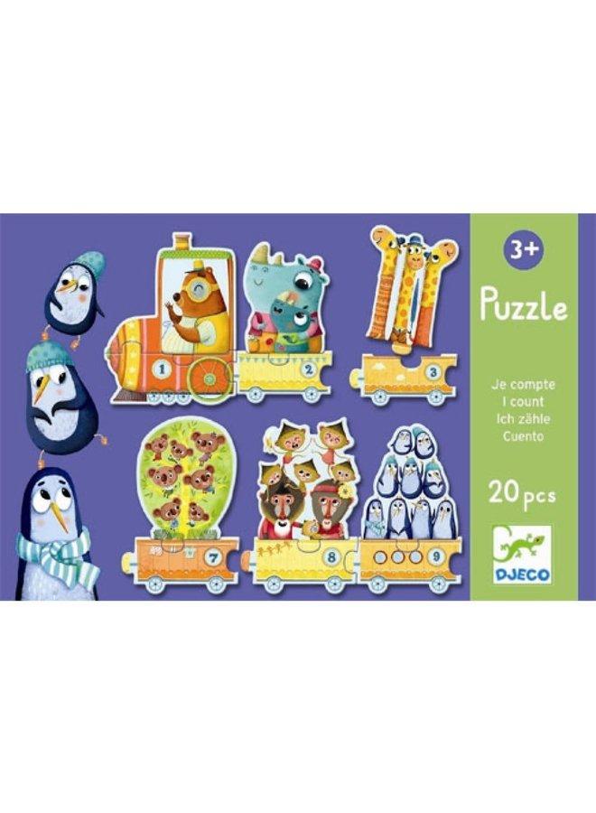 Puzzel - Leren tot 10 tellen