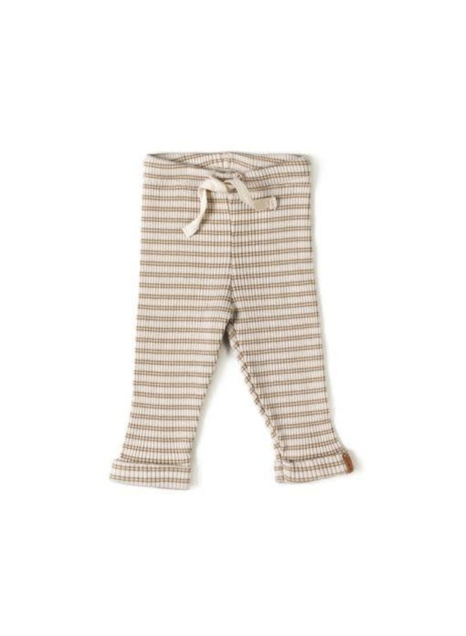 rib legging biscuit stripes