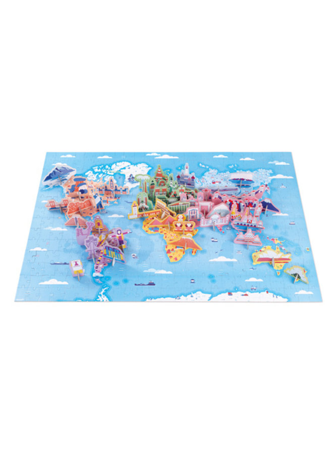 Educatieve puzzel - De wereld