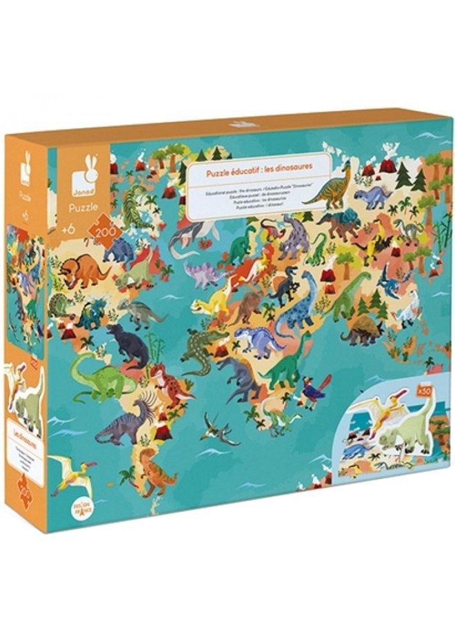 Educatieve puzzel - Dino's