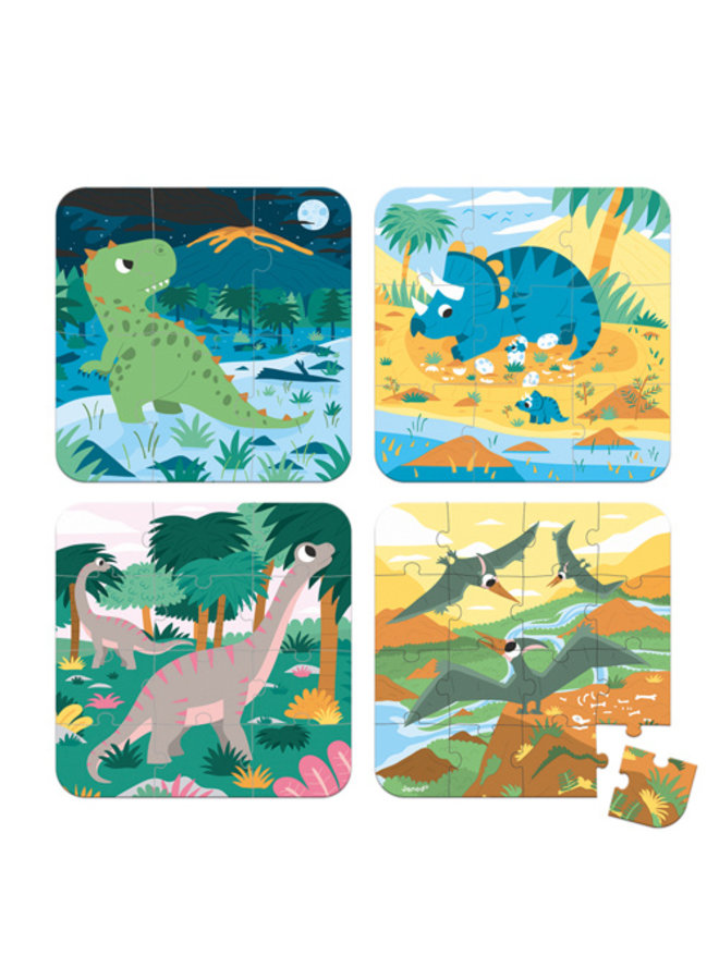 4 Puzzels - Dino's