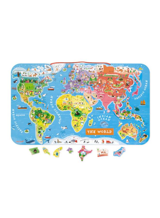 Magneetbord - Wereldkaart