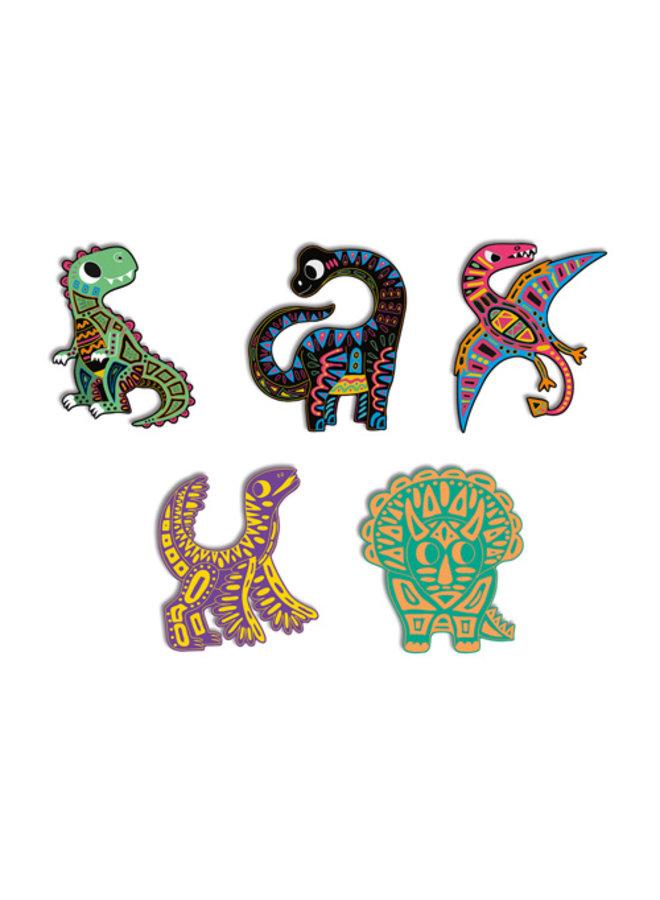 Kraskaarten - Dinosaurus