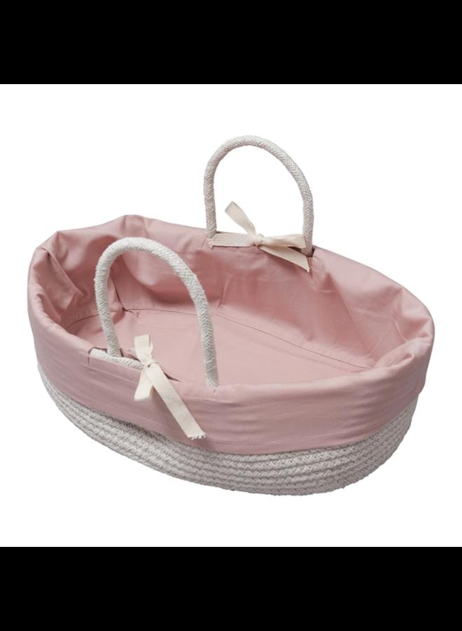 Poppenmandje - Met cover (oud roze)