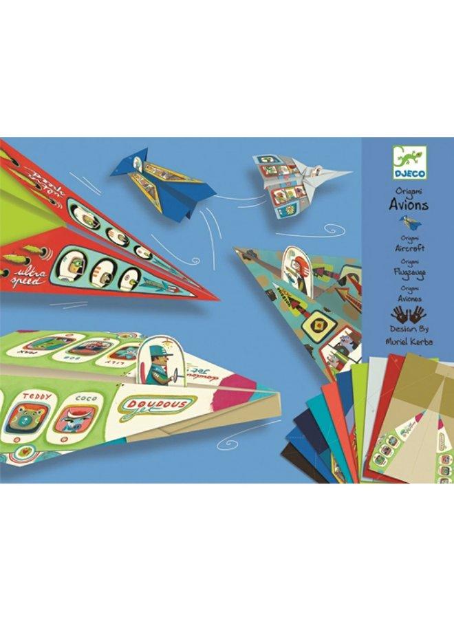 Origami - Vliegtuigjes