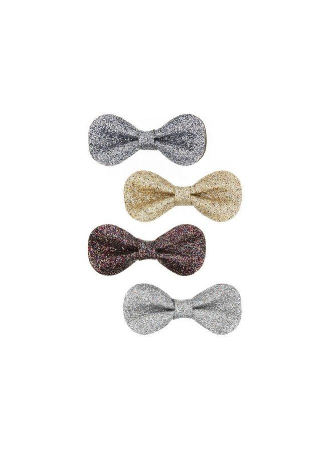 Haarklemmetjes - Glitterstrikjes (4st.)