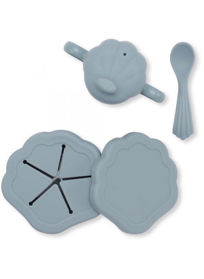 Babyservies silicone - Light blue