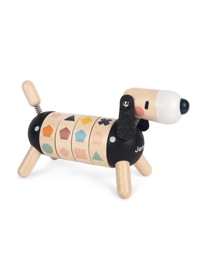 Houten speelhond - Vormen en kleuren