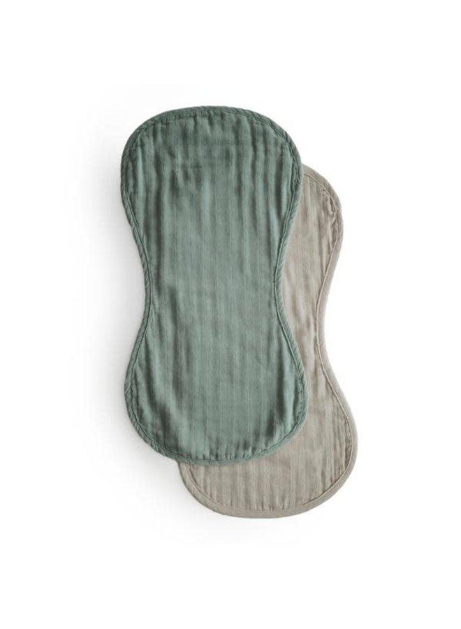 Burp cloths set organic - Green