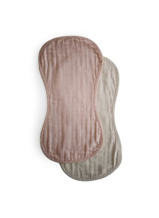Burp cloth set organic - Blush