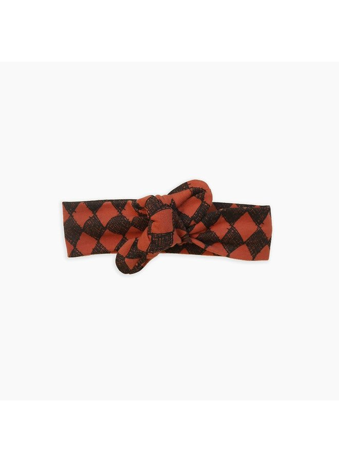 Haarband - Diamond All-Over Print/Copper Brown