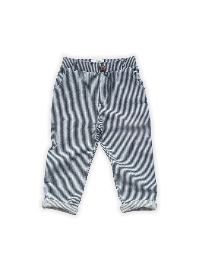 Chino pants denim stripe