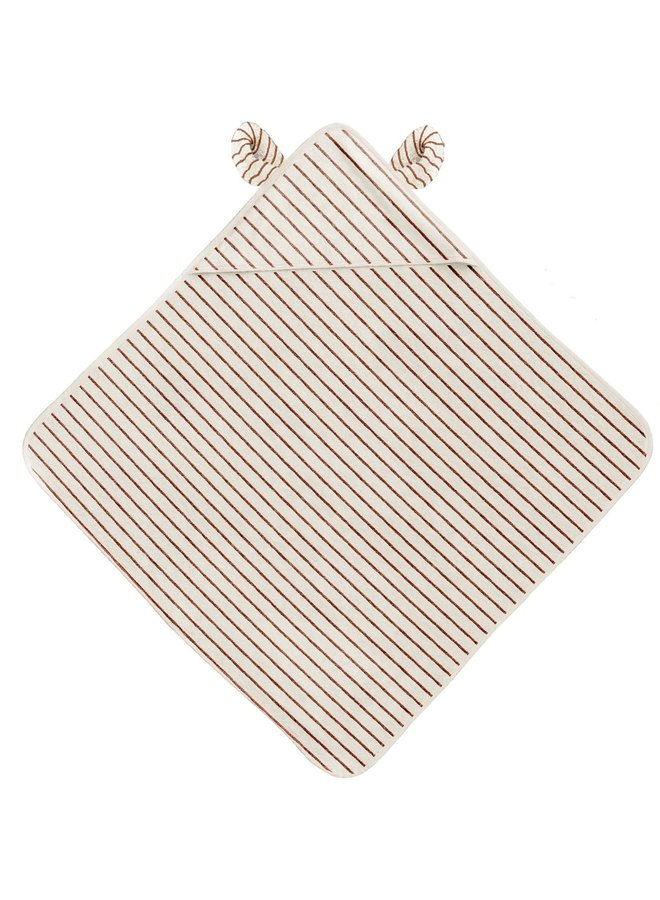 Terry towel striped - Bisquit