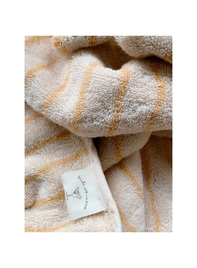 Terry towel striped - Sunflower