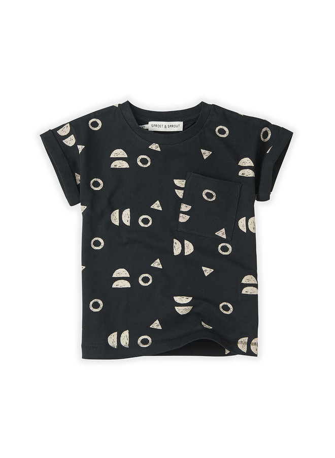 T-shirt Print Abstract Asphalt