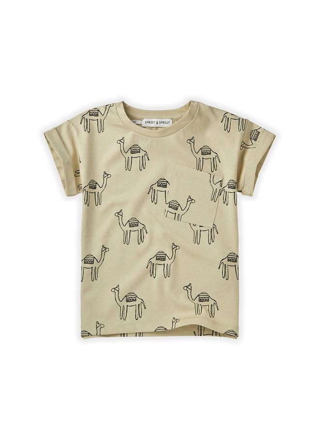 T-shirt Print - Camel Sesam