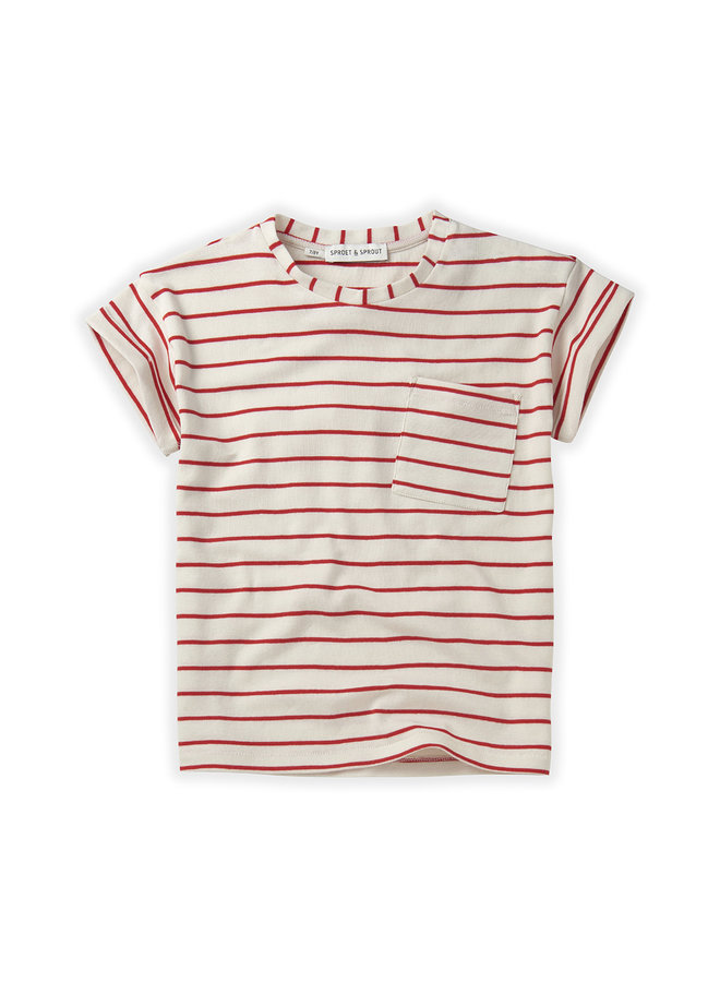 T-shirt Stripe Red