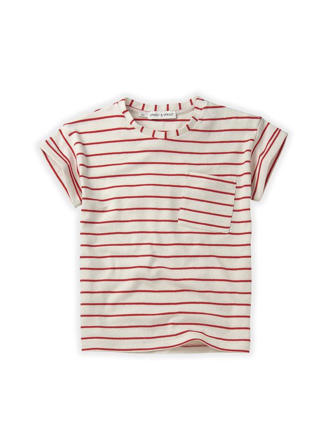 T-shirt Stripe - Red