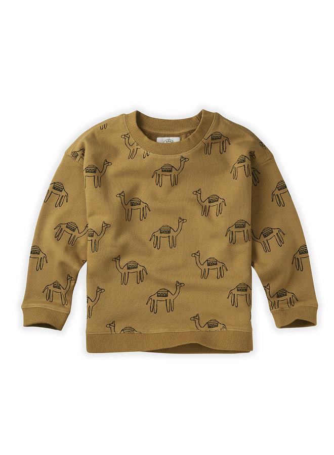 Sweatshirt Print - Camel