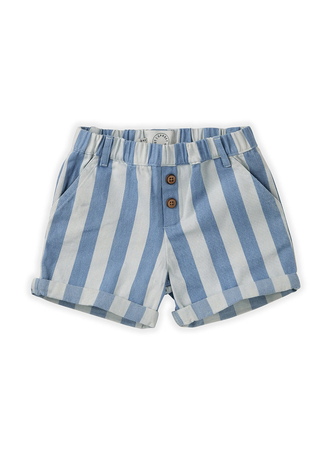 Short - Denim Stripe