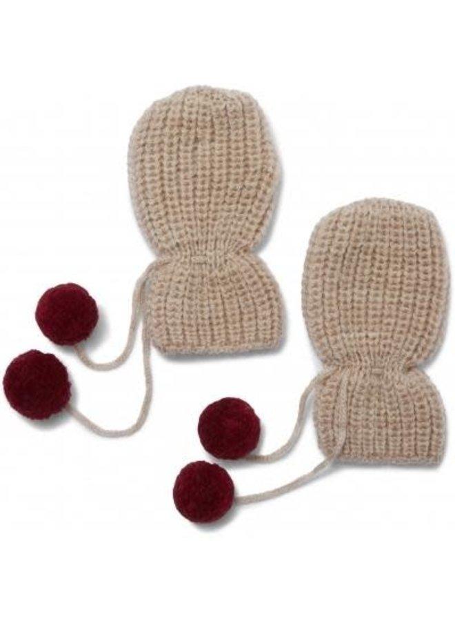 Tomami knit gloves (6-9m) - Cherry