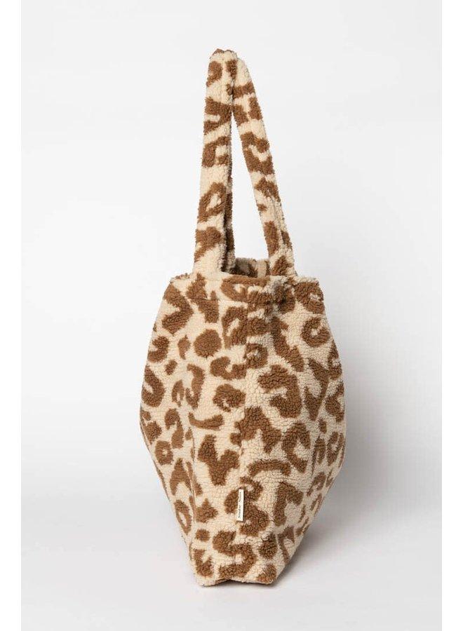 Luiertas Studio Noos - Teddy leopard ecru
