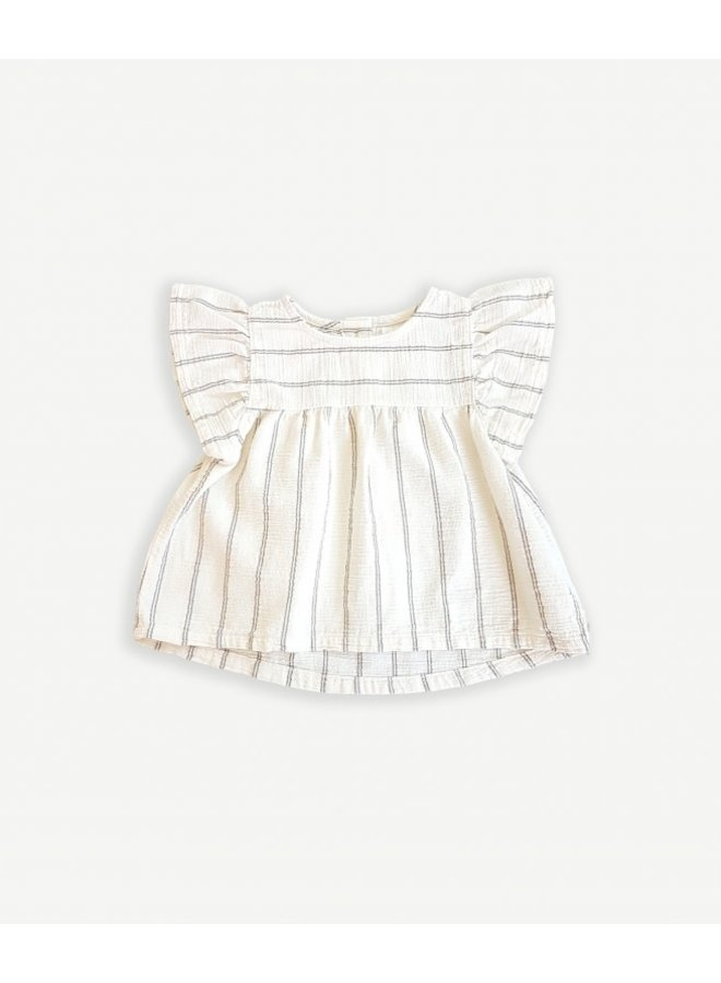 Striped woven tunic - Dandelion