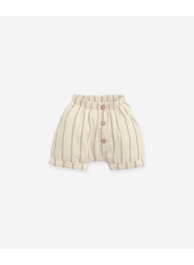 Striped woven short - Dandelion