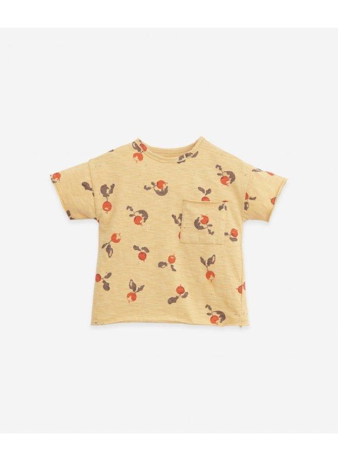 T-shirt flamé printed - Straw